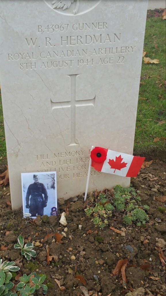 grave stone of W. R. Herdman