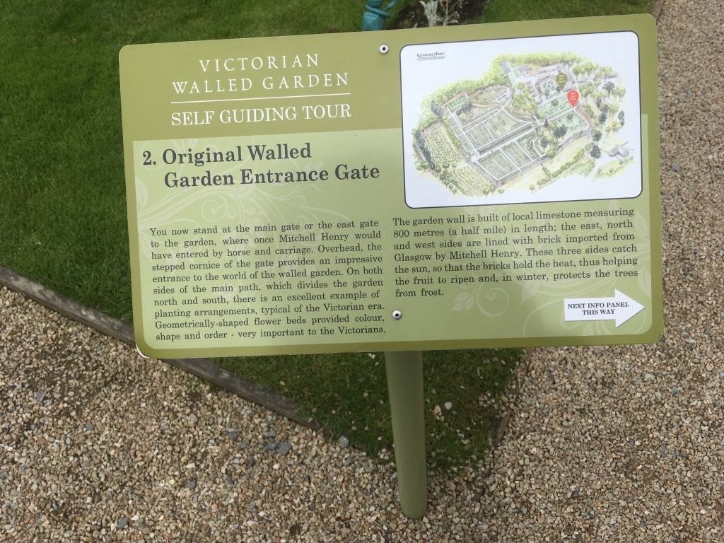 Victorian Walled Garden sign Kylemore Abbey
