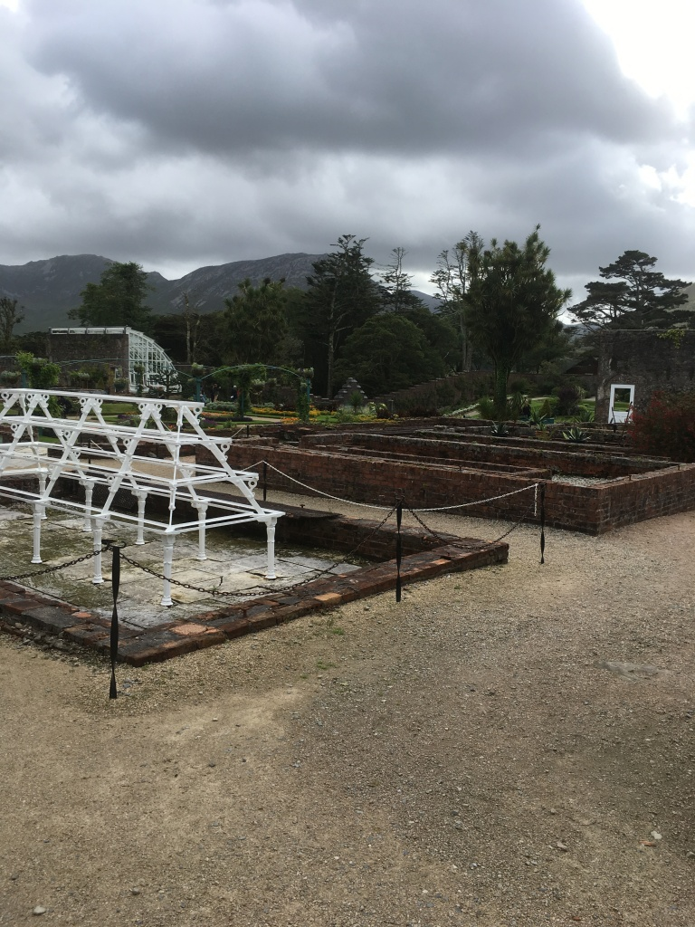 greenhouse frames Kylemore Abbey